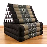 3 Fold with extra large Triangle Cushion, 100% Natural Kapok Filling, XXL Jumbo Thai Pillow, Headrest (Thai Cushion with XXL Triangle)