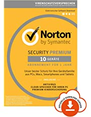 Norton Security Premium 2019 10 Geräte 1 Jahr PC/Mac/iOS/Android Download