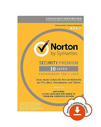 Norton Security Premium 2019   10 Geräte   1 Jahr   PC/Mac/iOS/Android   Download