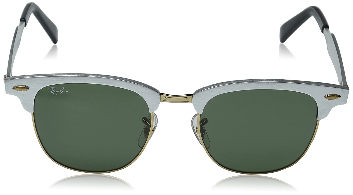 bb87cb0dd7e RAY BAN CLUBMASTER ALUMINUM RB 3507 137 40 51MM BRUSHED SILVER  GREY MIRROR  NEW  Amazon.co.uk  Sports   Outdoors