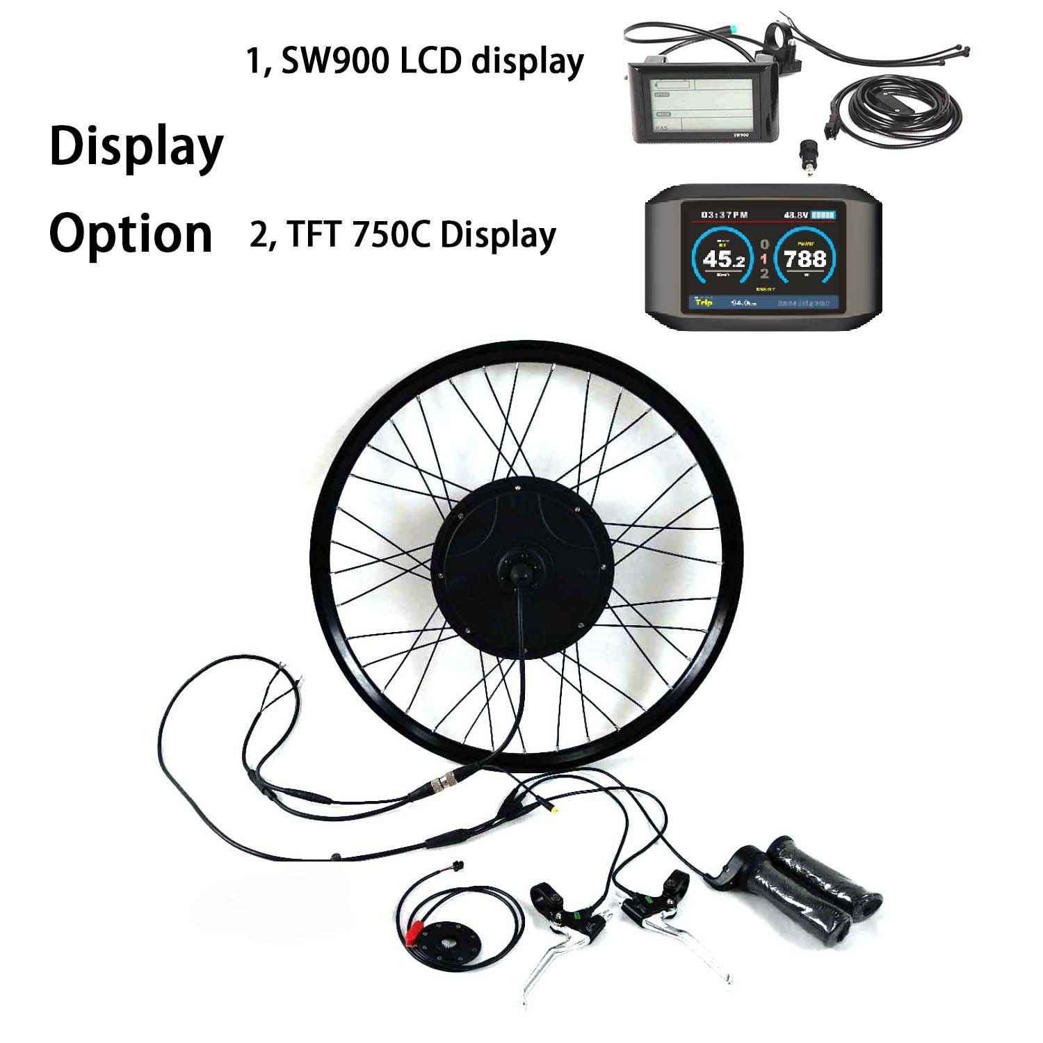 Waterproof 36V48V250W-1500w Built-In Programmable Controller 電動自転車変換キットギ Electric Bike Conversion Kit theebikemotor B07CTZTMNR 26