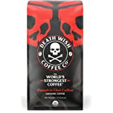 DEATH WISH COFFEE Organic Pumpkin Spice Dark Roast Coffee Grounds [12 oz.] The World's Strongest, Fair Trade, Arabica, Robust