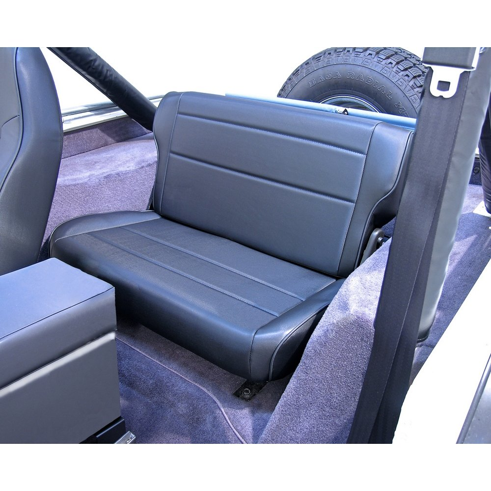 Rugged Ridge 13462.01 Black Fold and Tumble Rear Seat