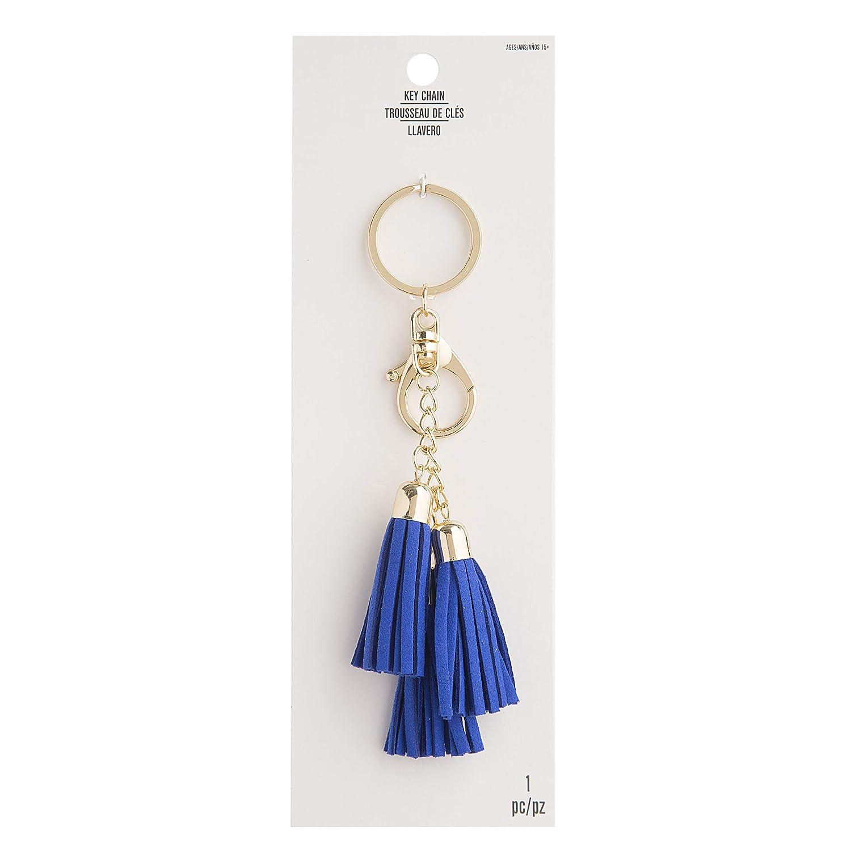 Amazon.com: Darice Blue Tassel Key Chain: Metal/Suede, 6 ...