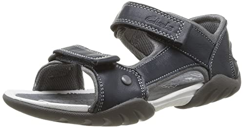 Clarks Boys  Mirlo Deck Inf Open Toe Sandals Blue Size  10.5 Child UK f2b92a7c0fb4