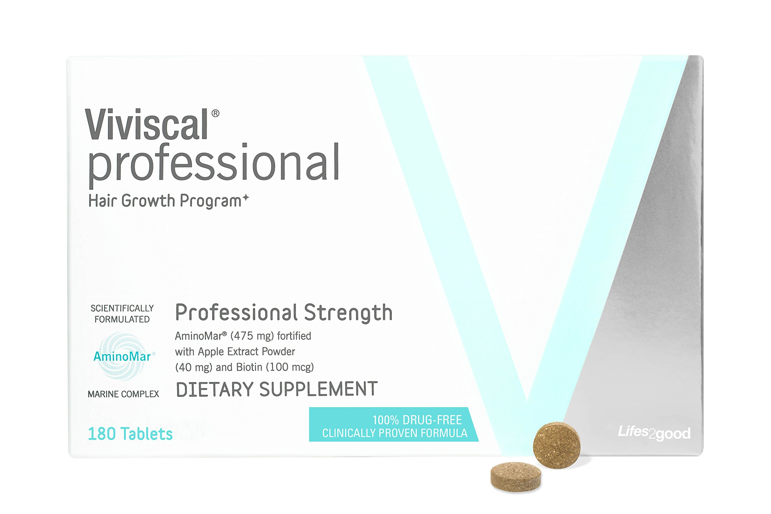 VIVISCAL PROFESSIONAL PRO: Hair Growth Dietary Supplement 180 tablets 90 Day Supply by Viviscal (Image #2)