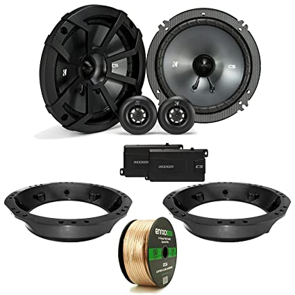 Surprising Amazon Com Enrockoffroad 2X Kicker Css 6 5 Black Component Speaker Wiring Cloud Brecesaoduqqnet