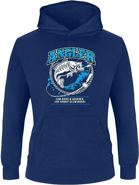 Kinder Pullover Kinder Kapuzenpullover EZYshirt/® Angler vol.2 Kinder Hoodie