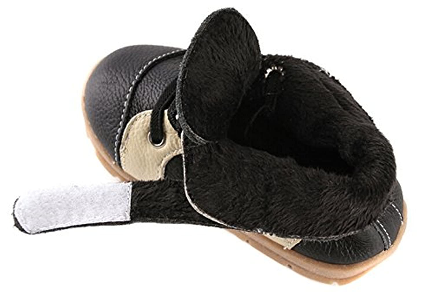 Fordbox Baby Boys Girls Fur Lined Lace Up Ankle Outdoor Boots Toddler//Little Kid