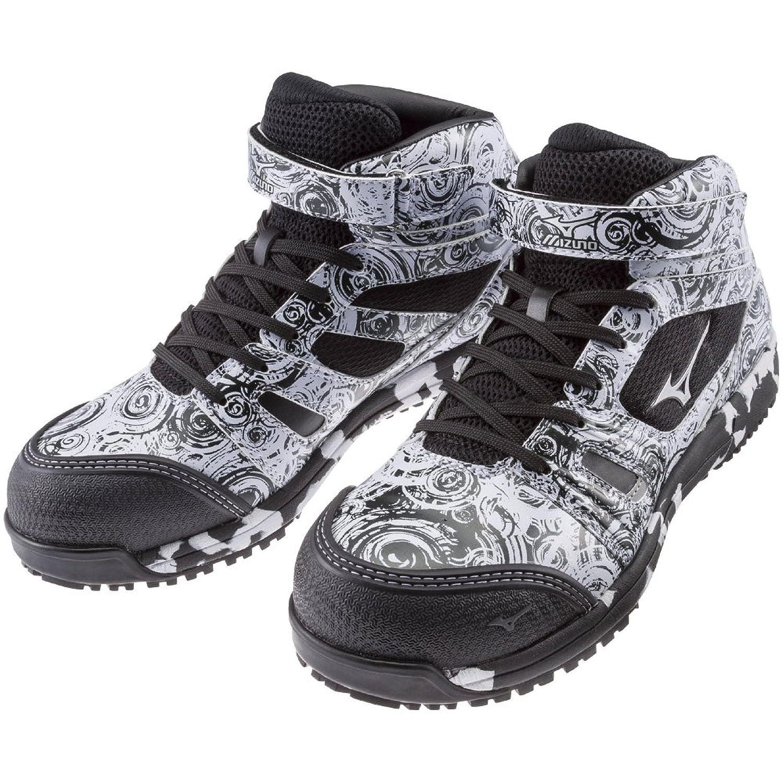ミズノワーキング 安全靴 作業靴 限定カラー 10 ホワイト×シルバー×ブラック B07DZWW5HK 25.5 cm