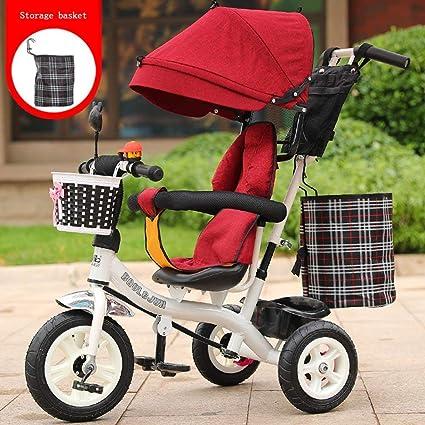 RZ-Melhor Multifuncional triciclo infantil carrito de bebé 1-6 años ...