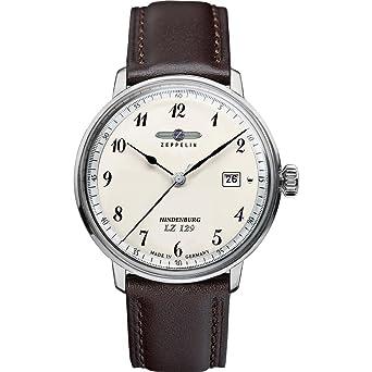 Zeppelin Watches 7046-4 - Reloj analógico para caballero de cuero beige: Amazon.es: Relojes