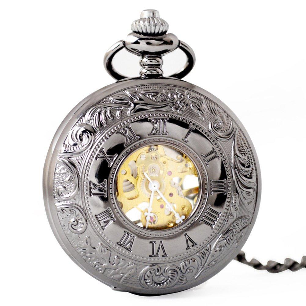 SW Watches Retro Rome Hollow Skeleton Reloj De Bolsillo Mecánico Automático Reloj De Cadena Unisex,2Pack: Amazon.es: Hogar