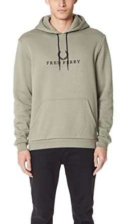 Fred Perry Embroidered Hooded Washing Khaki, Sudadera: Amazon.es: Deportes y aire libre