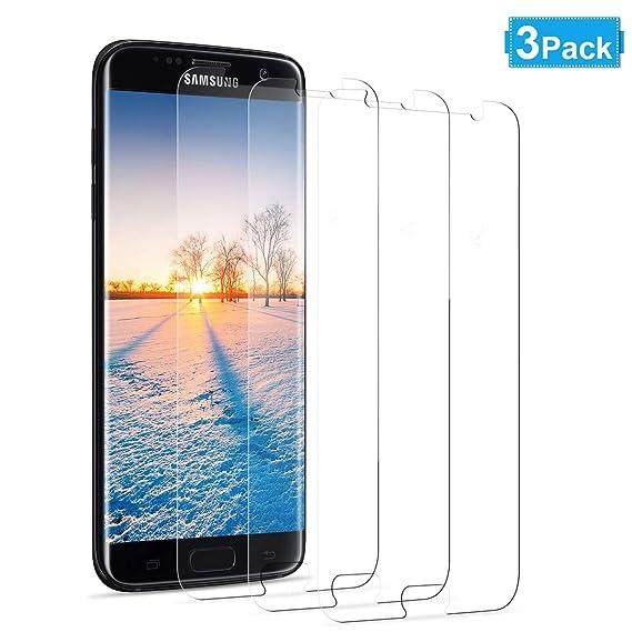 NONZERS [3 Stück] Panzerglas Schutzfolie kompatibel für Samsung Galaxy S7, Anti-Kratzen