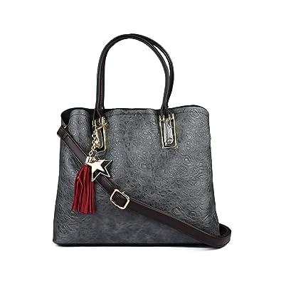 iSweven Premium PU Women s Handbag with Adjustable strap Grey colour  Shoulder Bag  4cd49965b4dbb