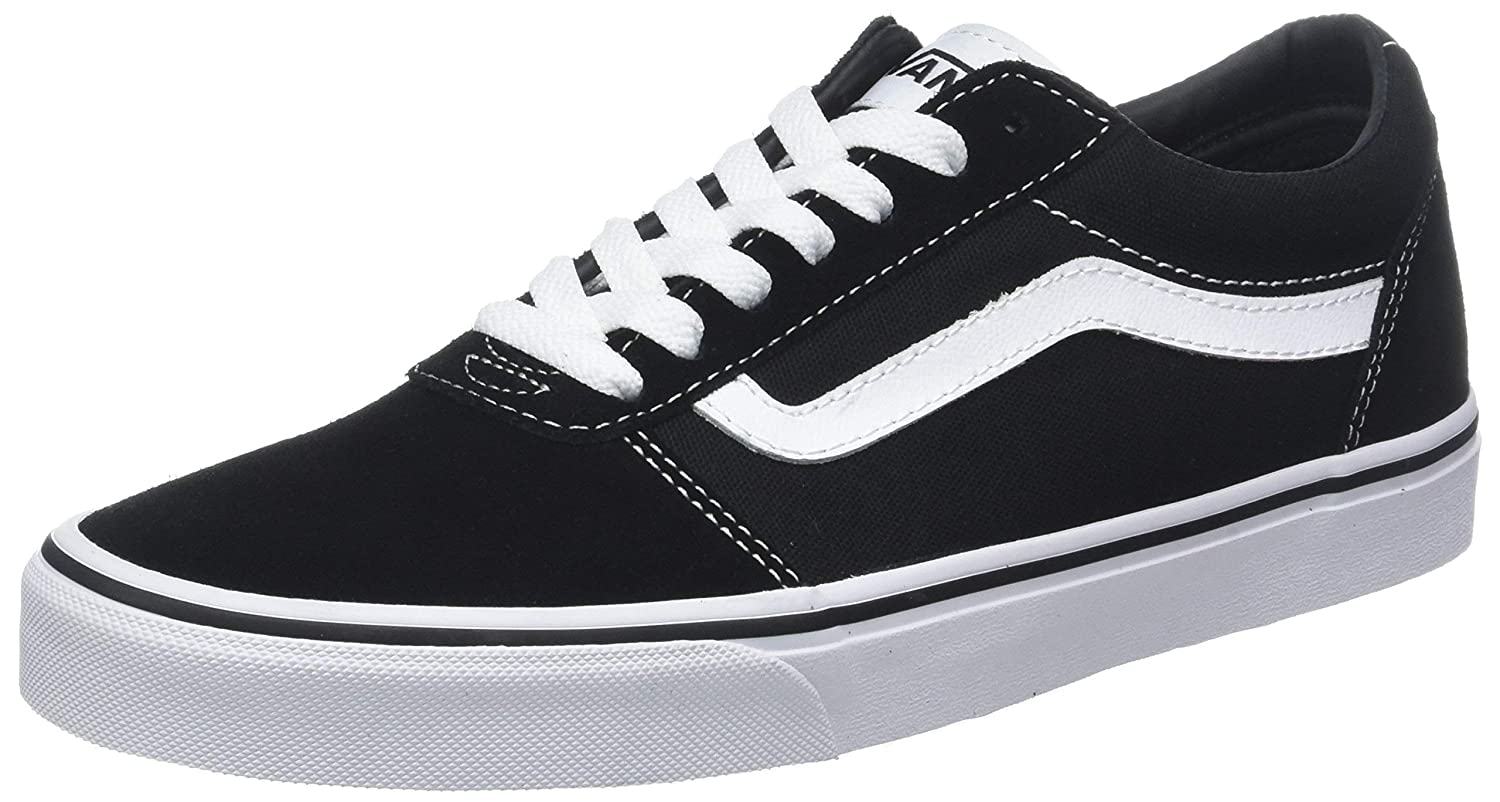 8290e0f431e702 Vans Women s Ward Suede Canvas Low-Top Sneakers  Amazon.co.uk  Shoes   Bags