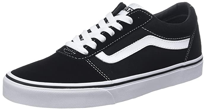Vans Damen Herren Ward Canvas Sneakers Schwarz/Weiß