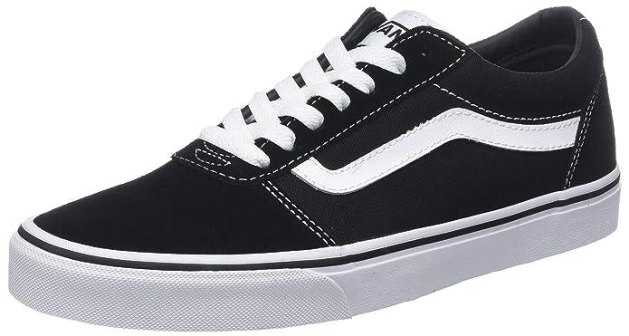 Vans Damen Herren Ward Canvas Sneakers Schwarz/Weiß Größe EU 45