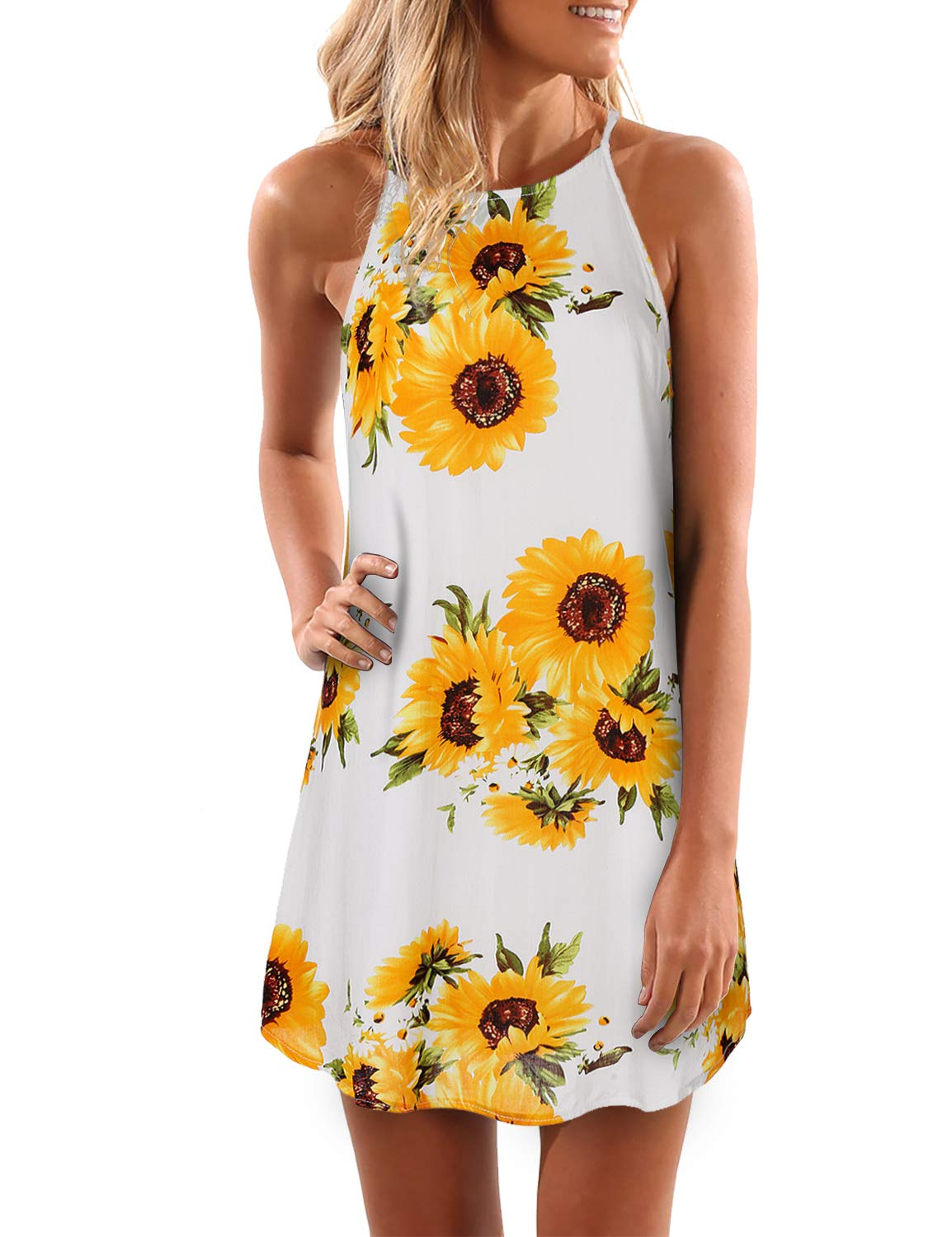 04c5d358e85 Blooming Jelly Women s Sleeveless Printed Flower Style Casual Floral ...