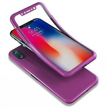 coque 360 iphone x violet
