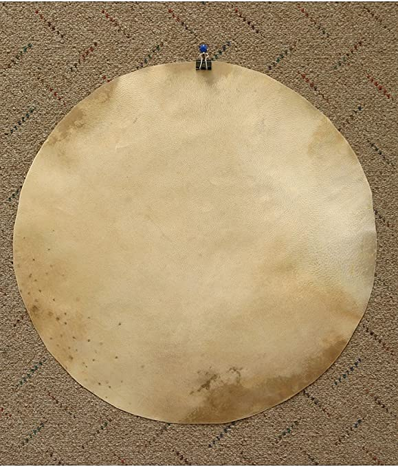 22 Inch Set of 10-Pieces GOAT SKINS HEAD WITH HAIR FOR DJEMBES,DRUMS,BODHRAN