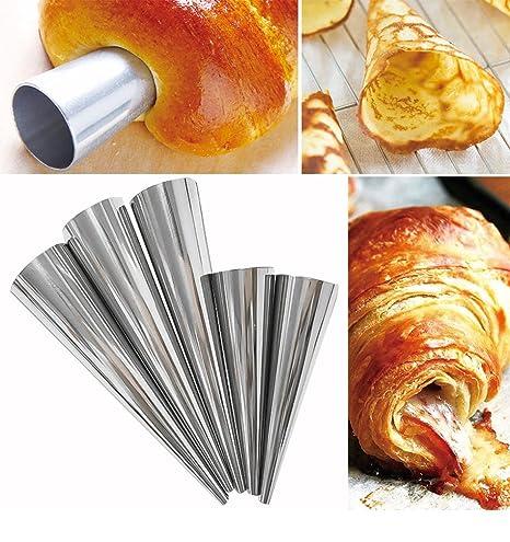 12 unds moldes cono acero para canutillos hojaldre aperitivos salados 8,8 cm x 2