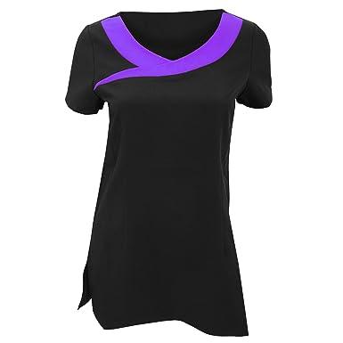 2bf37ecdb Premier Workwear Ivy Beauty Tunic Contrast Neck: Amazon.co.uk: Clothing