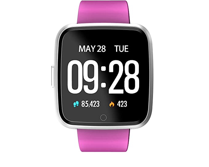 TDOR Cyber Monday Smartwatch Whatsapp Mujer Android GPS Música, Reloj Deportivo, Color Negro
