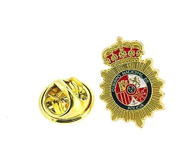 Gemelolandia Pin de Solapa Emblema Policia Nacional Dorado Mate
