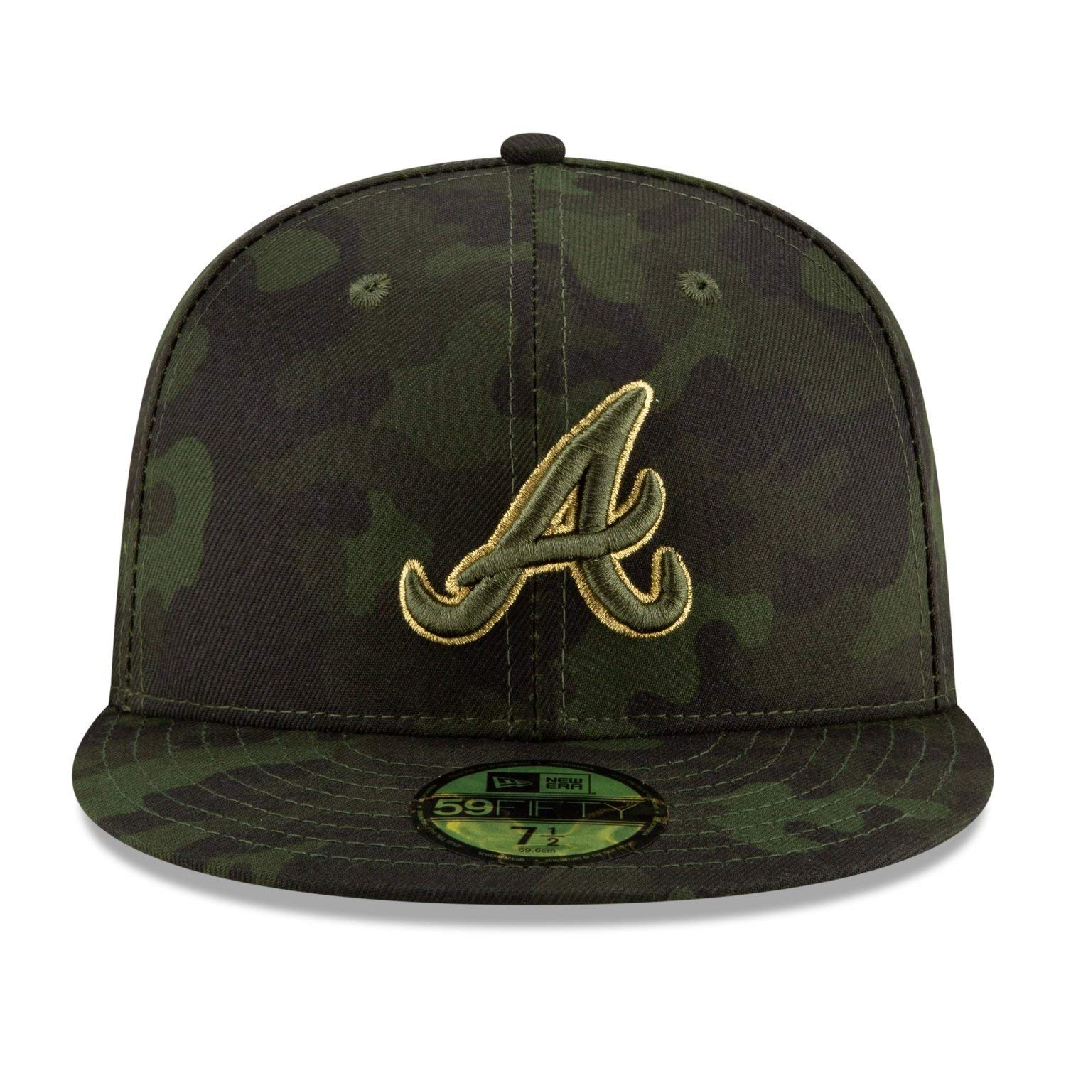 newest 9d359 0d7a7 Amazon.com   New Era Atlanta Braves 2019 MLB Armed Forces Day On-Field  59FIFTY Fitted Hat - Camo   Sports   Outdoors
