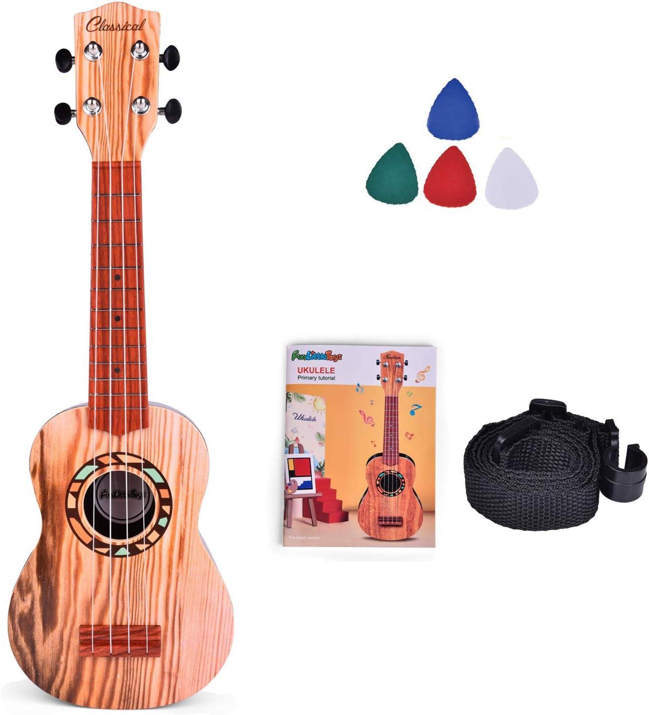 US Cute Animal Musical Guitar ukulele Instrument Children Kid Educational Toys