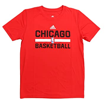 48030c557419 Adidas Chicago Bulls S/S ClimaLite Practice NBA Fan Basketball Tee - Red -  Youth