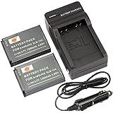 DSTE® アクセサリーキット Samsung SLB-10A 互換 カメラ バッテリー 2個+充電器キット対応機種 P1000 PL55 SL720 SL820 TL9 ES50 ES55 ES60 M110 NV9