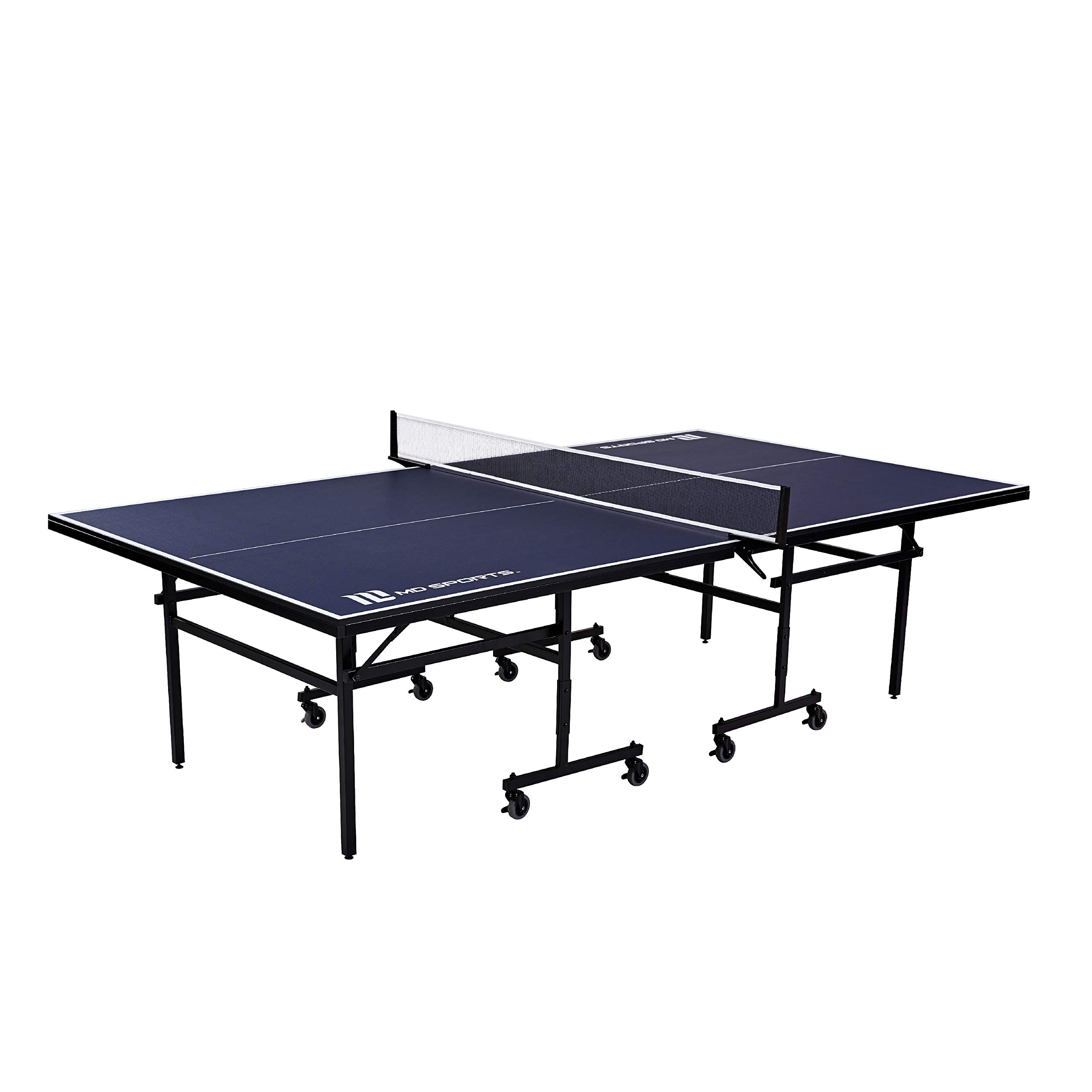 Ping Pong and Table Tennis Game Set, Regulation Size - Indoor, Foldable Tennis Tables with Retractable Net and Wheels for Simple Portability, Storage - Games for Home, Arcade, Sports Bars