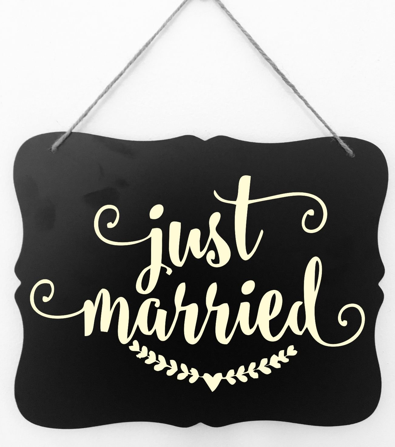 SQUARE NOTCHED CHALKBOARD WEDDING SIGN WEDDING GIFT FARMHOUSE COUNTRY WEDDING DECOR BRIDAL GIFT by Heartland Country Decor ANNIVERSARY GIFT JUST MARRIED