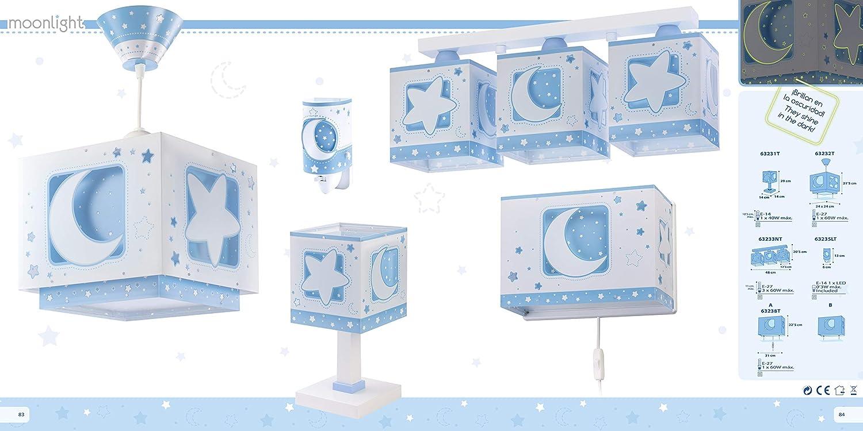 Dalber L/ámpara sobremesa Moon Light Azul 40 W