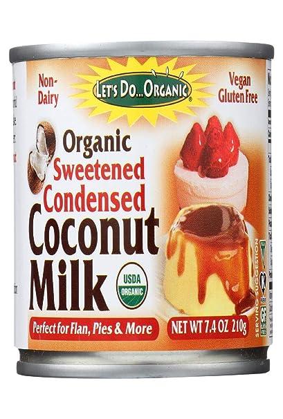 Orgánico - Leche de coco condensada azucarada - 7.4 la Florida. onza
