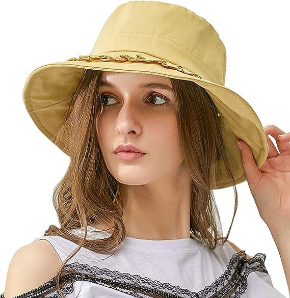Lachi Sombrero para el Sol Mujer Gorras de Playa Pescador Gorro de ...