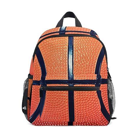 DOSHINE Mochila para niños, diseño de balón de Baloncesto ...