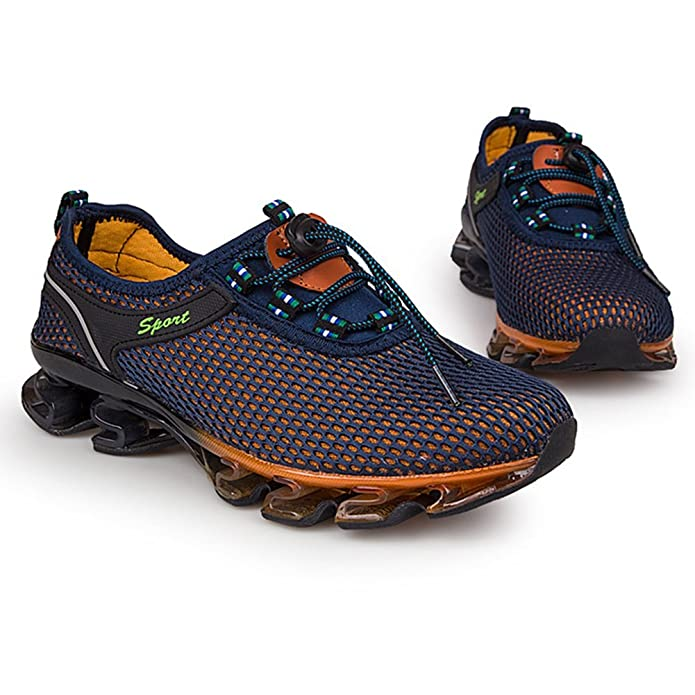 HUAN Lovers Sneakers Uomo Mesh Scarpe da Corsa Traspiranti Scarpe da Ginnastica di Grandi Dimensioni Unisex Scarpe da Trekking per Esterni (Color : A, Dimensione : 41)