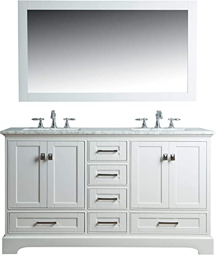 36 in. Double Sink Vanity in White