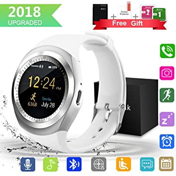 Kindak Smartwatch Y1 Black White (Blanco): Amazon.es: Electrónica