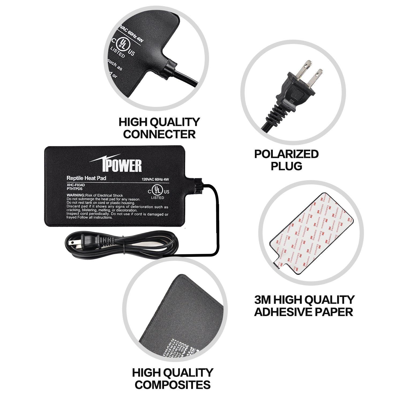 iPower 8 by 12-Inch 16 Watt Reptile Heat Pad Under Tank Terrarium Heater Heat Mat for Small Animals by iPower (Image #4)