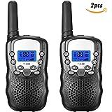 FUNTOK 2PCS Nero radiofonico nero radiofonico a due vie radiofonico con intervallo di lunga distanza per i bambini