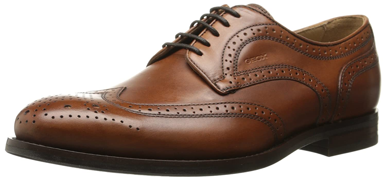TALLA 46 EU. Geox U Hampstead D - Zapatos de Cordones de Cuero Hombre
