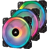 Corsair LL120 RGB, 120mm Dual Light Loop, RGB LED PWM Fan - Black (Triple Pack)
