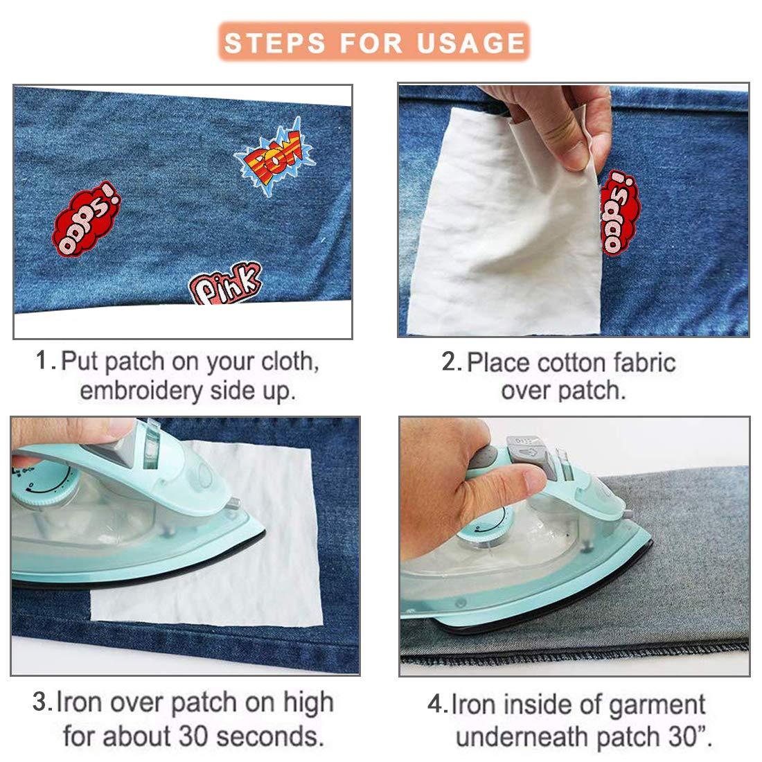 jeans zaini 22 pezzi Toppe termoadesive per vestiti giacche
