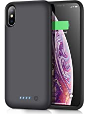 Battery Case for iPhone XS Max,Trswyop 7800mAh Portable Charging Case for iPhone XS Max Rechargeable External Battery Pack Extended Battery Protective Charger Case(6.5 inch)-Black