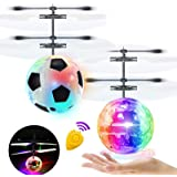 2 Pack Flying Ball Kids Toys RC Flying Toys Hand Controlled Helicopter Infrared Induction RC Flying Light Up Ball for Boy Gir